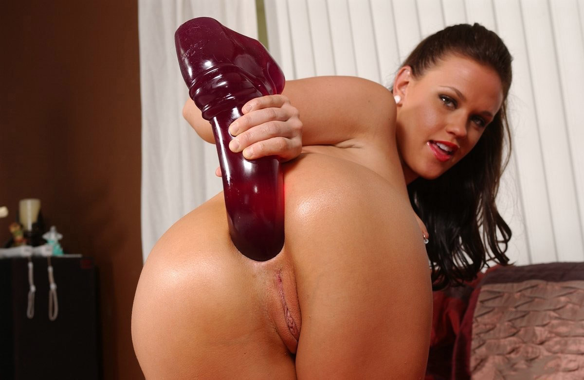 Nasty Woman With Big Ass Rides A Huge Dildo