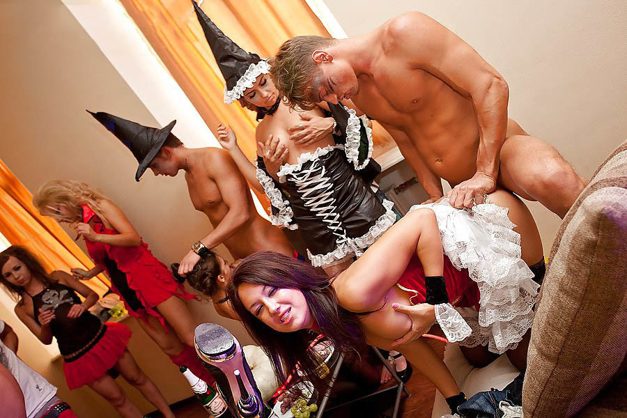 The Horny Halloween Adult Amateur Swingers In Hard Orgy