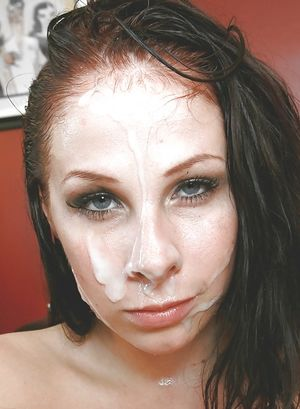 Милые мордашки со спермой на лице 14 фото