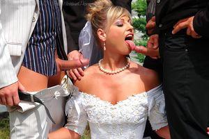 Невесту пустили по кругу дружки жениха 2 фото