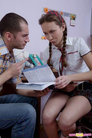Репетитор трахнул попку русской студентки 11 фото