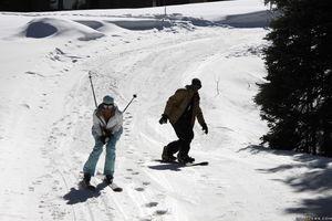 Снял лыжницу в лесу, а затем продолжили в отеле 1 фото
