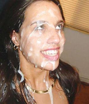 Давалки со спермой на лице. 0 фото
