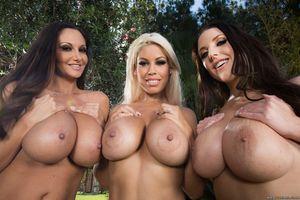 Три загорелые девушки с аппетитными формами 11 фото