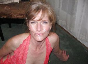 Старухи со спермой на лице 5 фото