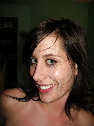 Фотают себя со спермой на лице 4 фото