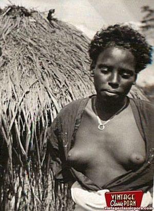 Винтажные фотографии негритянок африканских племен 5 фото