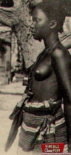 Винтажные фотографии негритянок африканских племен 1 фото