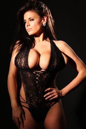 Wendy Fiore в черном белье 10 фото