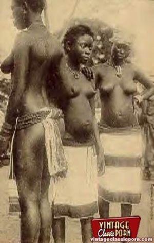 Винтажные фотографии негритянок африканских племен 7 фото