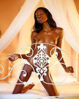 Худенькая негритянка с маленькими сиськами 3 фото