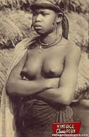 Винтажные фотографии негритянок африканских племен