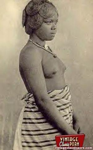 Винтажные фотографии негритянок африканских племен 6 фото