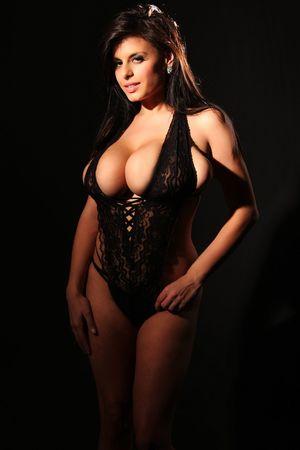 Wendy Fiore в черном белье 2 фото