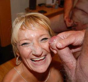 Старухи со спермой на лице 10 фото