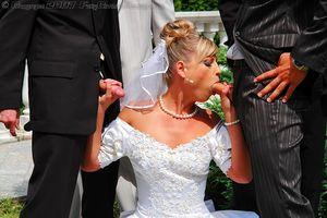 Невесту пустили по кругу дружки жениха 3 фото