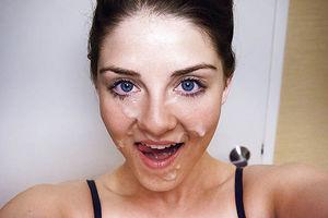 Фотают себя со спермой на лице 8 фото