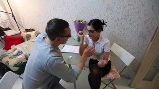 Русская училка подрабатывает репетиторством
